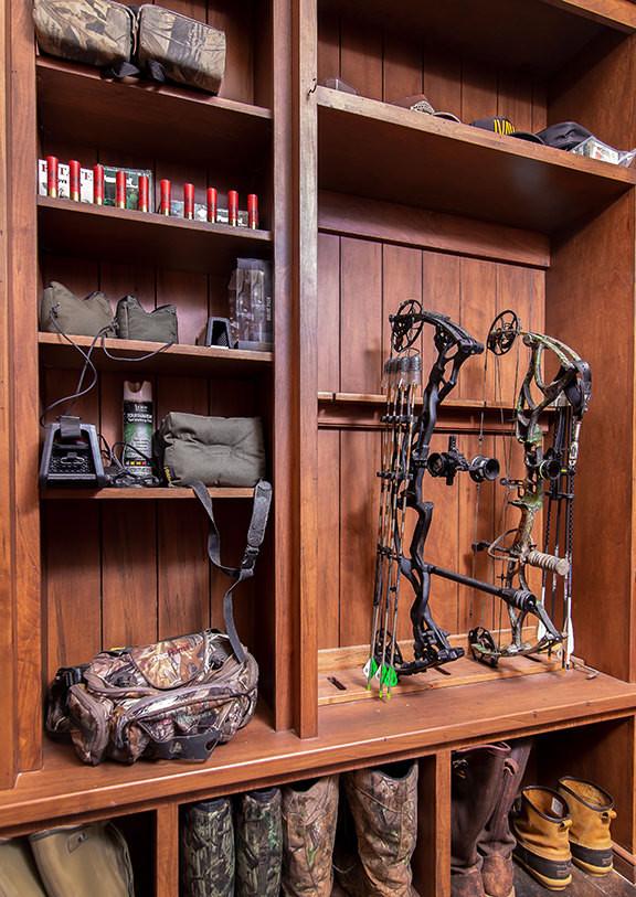 Rustic - Modern Hunting Lodge Gun Room / Laundry Room ...