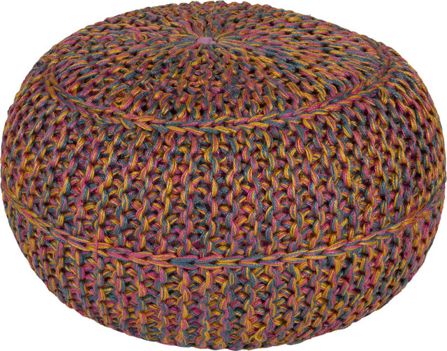 Surya Wtpf-001 Indoor Pouf From The Wisteria Collection.