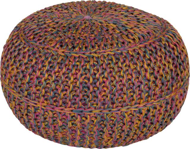 Surya Surya Wisteria Wtpf 001 Sphere Pouf Ottoman