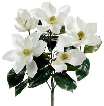 Silk Plants Direct Magnolia Bush Pack Of 12 Contemporary