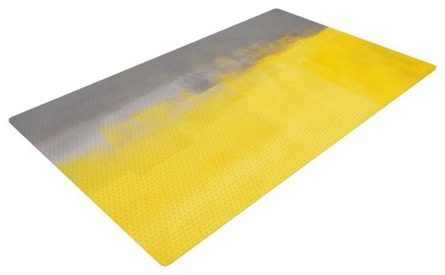 grey and yellow rug living room modern solid dark fur