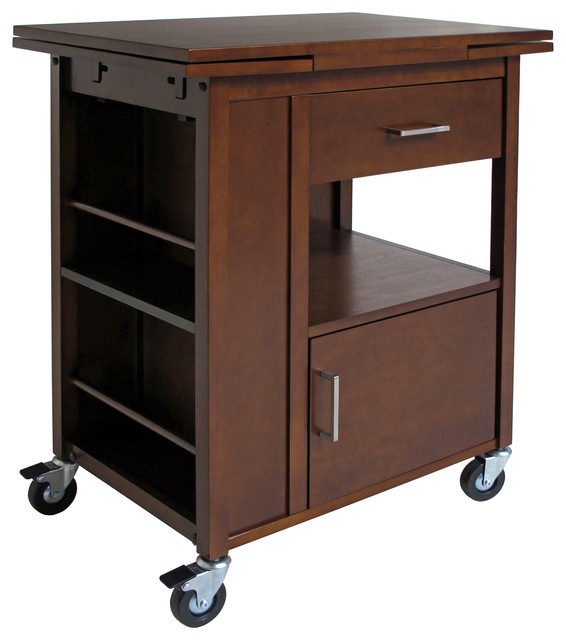 Winsome Gregory Extension Solid Wood Kitchen Cart.