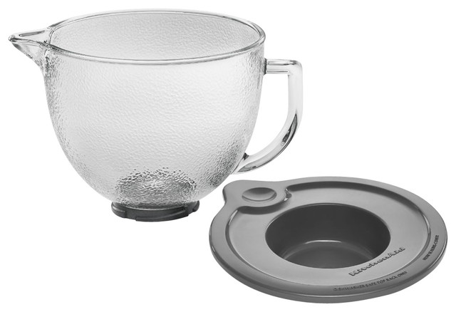 5-Quart Hammered Glass Bowl for KitchenAid Tilt-Head Stand Mixers