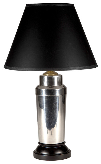 vintage silver cocktail shaker lamp - transitional - table lamps