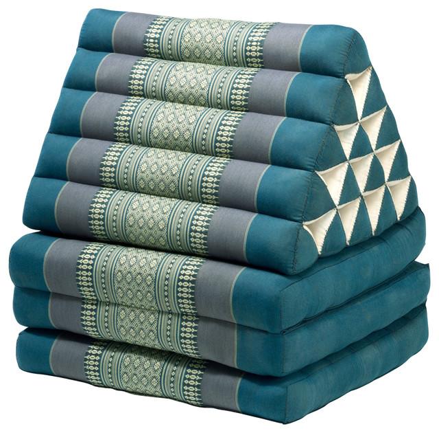 Triangle Lounger - Asian - Floor Pillows And Poufs - by My Zen Home, LLC