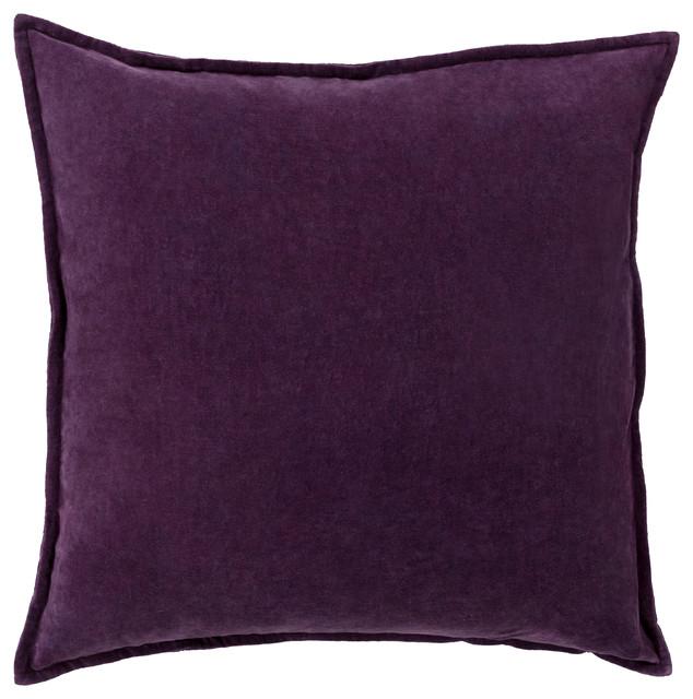 Cotton Velvet Decorative Pillows : Surya - Cotton Velvet Pillow, 20x20x4 - View in Your Room! Houzz