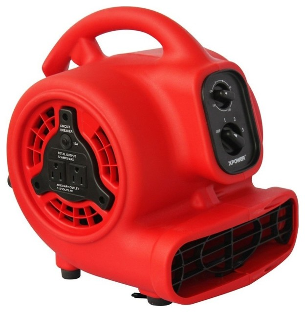 Xpower 1/8 Hp, 600 Cfm, 3 Speed Mini Air Mover With 3 Hour Timer.
