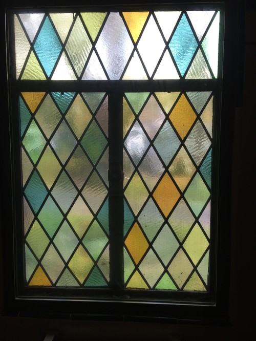 Tile And Paint Color To Match Stained Glass Window
