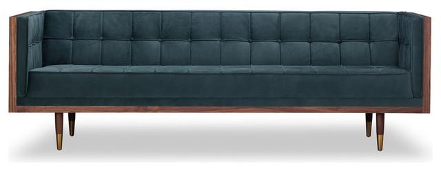 Swell Woodrow Midcentury Modern Box Sofa Neptune Seat Walnut Base Cjindustries Chair Design For Home Cjindustriesco