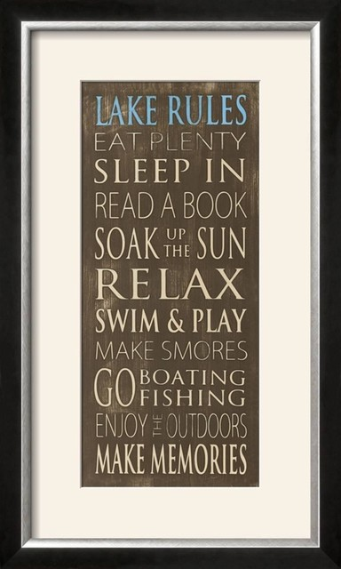 Quot Lake Rules Quot Wall Art By Holly Stadler 28 Quot X16 Quot X1