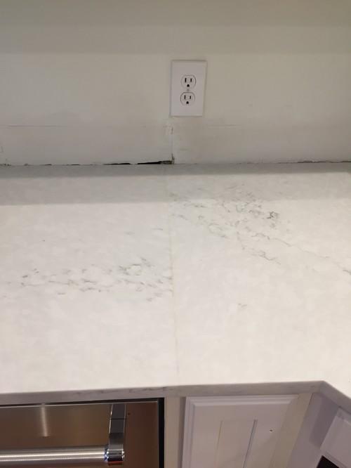 Noticeable seam in new quartz countertop advice for Seamless quartz countertops