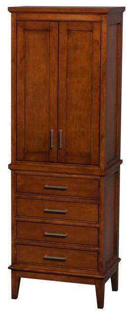 Bathroom Cabinets For Storage hatton 4-drawer bathroom linen tower with cabinet storage