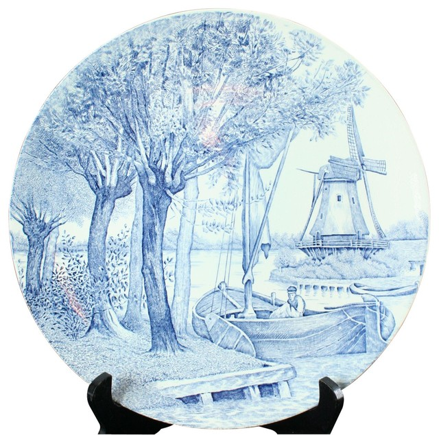 Blue And White Plates consigned 1950 plate boch delfts blue white delft - asian