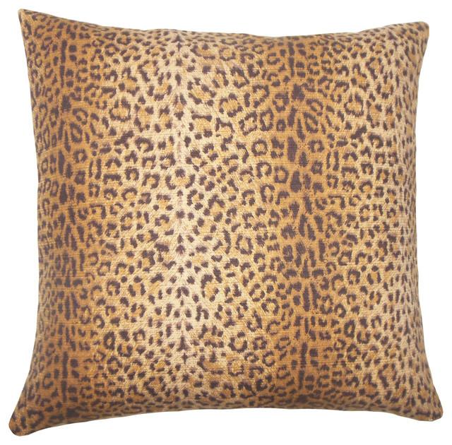 Animal Print Euro Pillow Shams : The Pillow Collection - Achava Animal Print Bedding Sham Mink, Euro Sham, 26