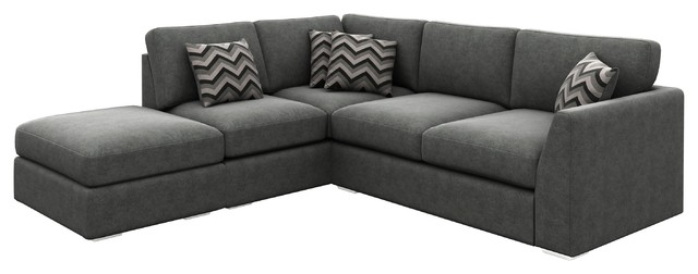 London Corner Sofa, Graphite, Left Facing