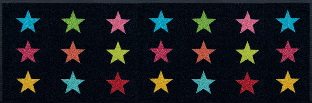 Easy Clean Colourful Stars Doormat, Large