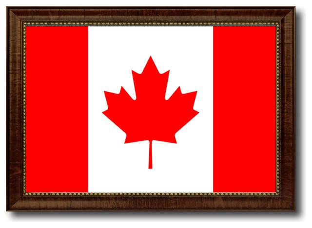 "Canada Country Flag Canvas Print, 21""x30""."