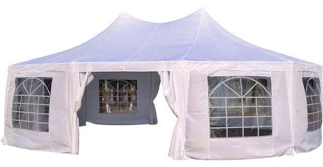 Outsunny 29 X20 Large Heavy Duty Decagon 10 Wall Party Gazebo Tent