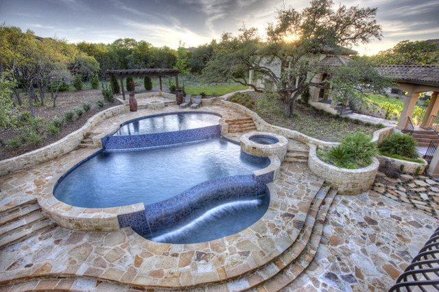 Pool Design Austin greenscapes landscaping and pools austin tx Hillside Estate Contemporary Pool