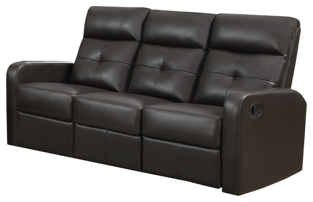 Reclining, Sofa Brown Bonded Leather