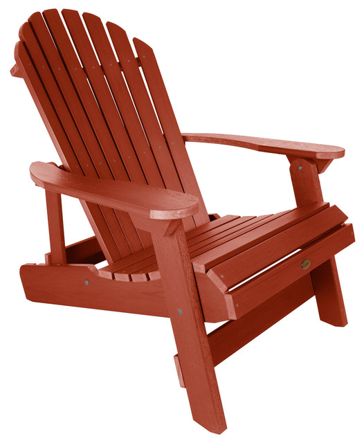 Remarkable King Hamilton Folding Reclining Adirondack Chair Rustic Red Gamerscity Chair Design For Home Gamerscityorg
