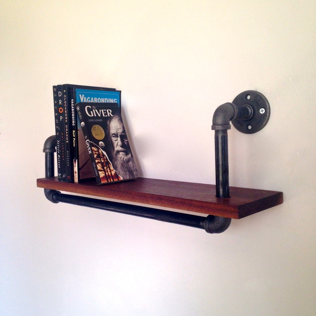 Reclaimed Wood Pipe Shelf Philadelphia