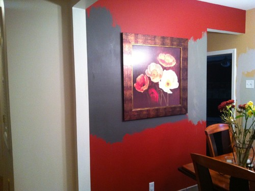 Accent Wall With Revere Pewter Chelsea Gray Or Kendall