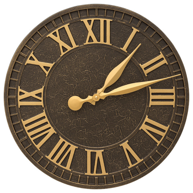 geneva 16 indoor outdoor wall clock outdoor clocks by