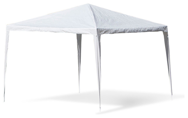 10x10 Party Tent With No Wall, White.