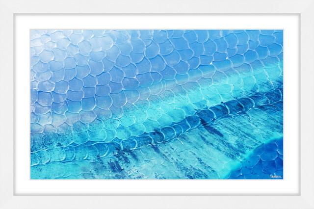"""blue Pools"" Framed Painting Print, 24""x16""."