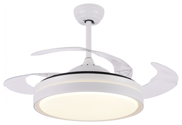 Modern ceiling fan with light and remote retractable bedroom ceiling fan contemporary for Bedroom ceiling fans with lights and remote