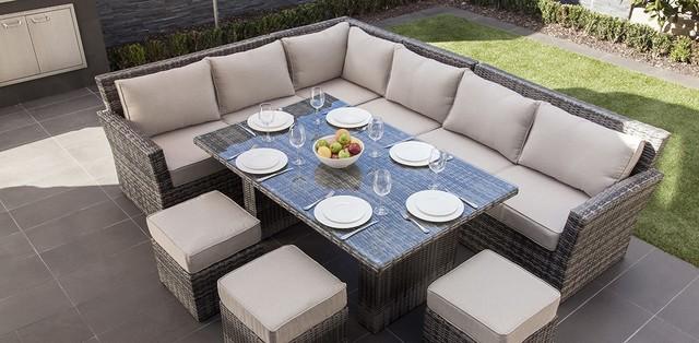 moda furnishings antigua corner dining set rh houzz com corner patio table small corner patio furniture