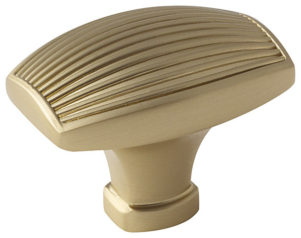 """Amerock Knob Sea Grass 1-1/2"""" Gold Champagne - Transitional - Cabinet And Drawer Knobs - by ..."""