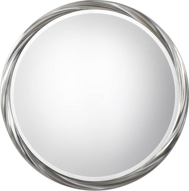 Uttermost Orion Silver Round Mirror.