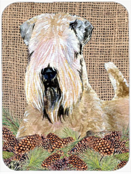 Wheaten Terrier Soft Coated Glass Cutting Board Large Traditional