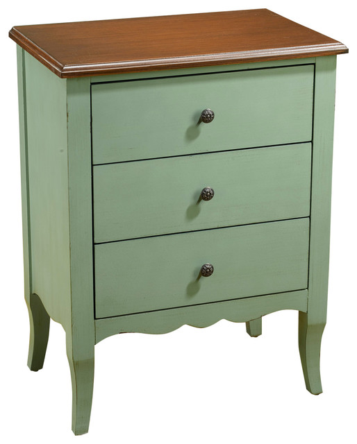 Green 3-Drawer Chest.