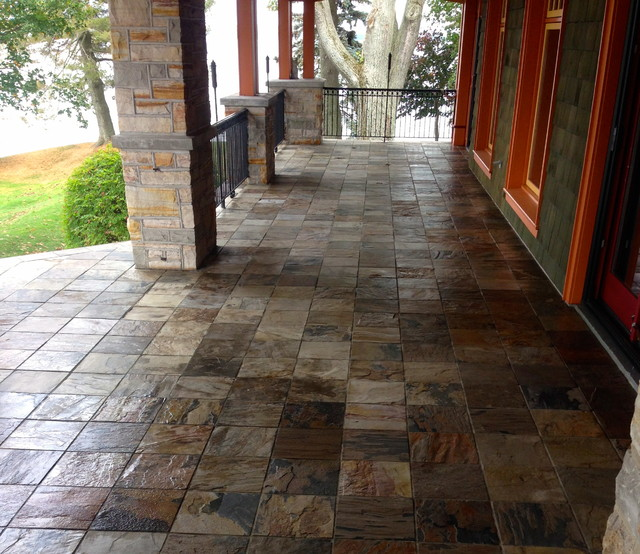 Tiled Porch In African Slate Rustic Toronto By
