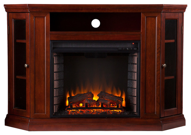 Lincoln Convertible Media Electric Fireplace, Cherry.