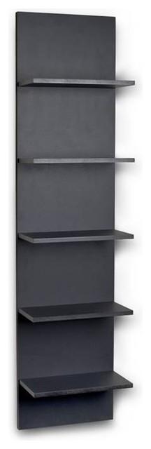 Wide Column Wall Shelf Black