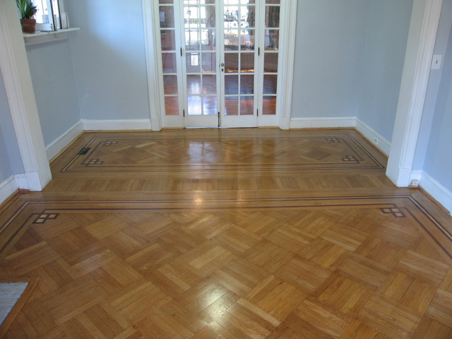 Historic Oak Parquet With Decorative Border Traditional Dc Metro