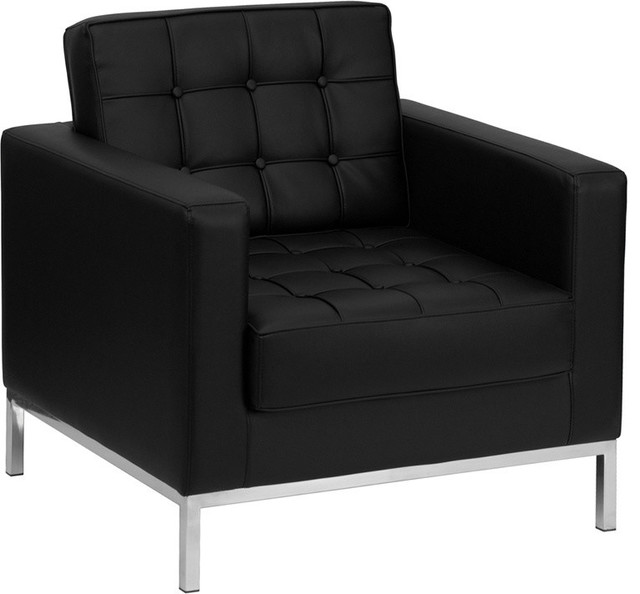 Hercules Lacey Series Contemporary Black Leather ChairModern