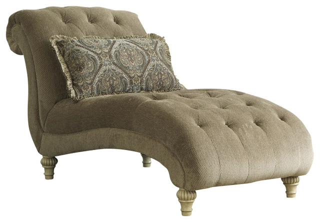 Charmant Old World Chaise, Platinum