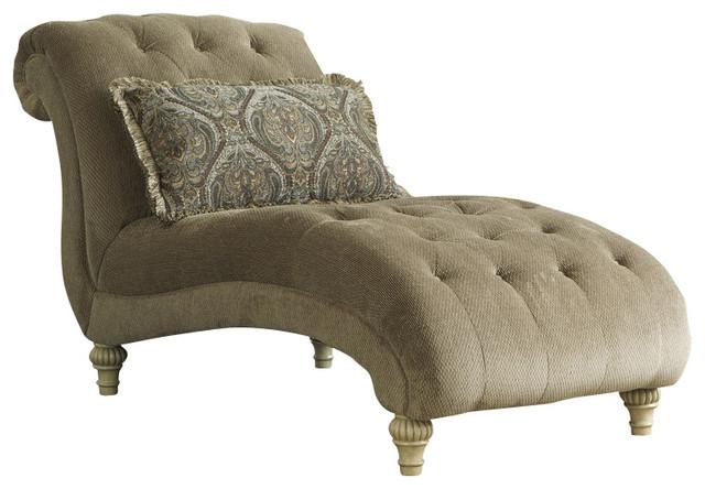 Gentil Old World Chaise, Platinum