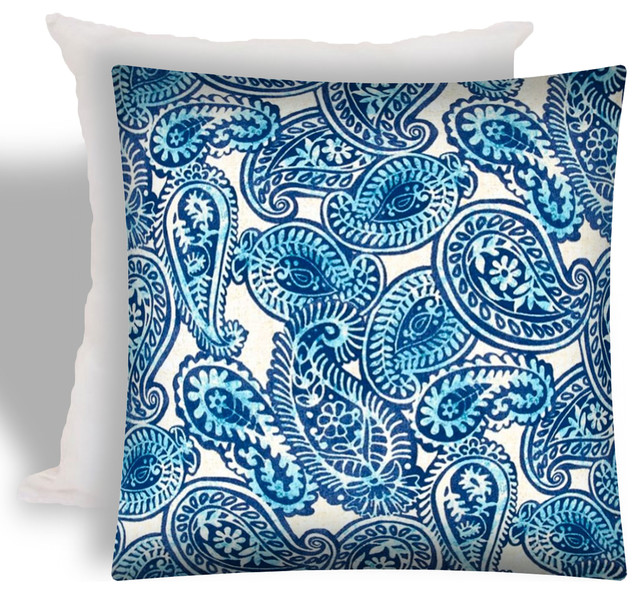 Elio Indoor Outdoor Zippered Pillow Covers Set Of 2 Mediterranean Cushions And Pillows By Joita