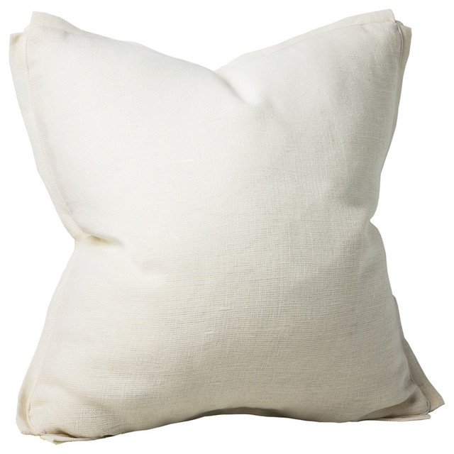 Shop Houzz Chauran Dorian Linen Feather Pillow, Natural - Decorative Pillows