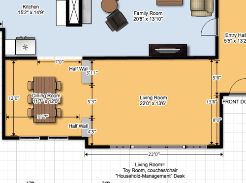 Layout For Formal Living Room Turned Toy Room
