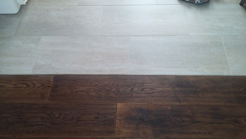 Otherwise I'd use a hardwood transition piece. - Help With Transition From Tile To Hardwood.