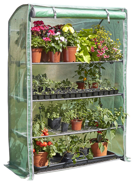 Extra-Wide 4&x27;x5.6&x27; H Deluxe 4-Tier Portable Greenhouse.