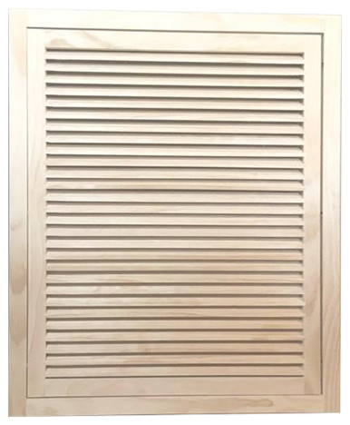 """Wood Return Air Filter Grille, 24""""x30"""", Standard Square Edge."""