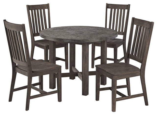 Concrete Chic 5-Piece Dining Set.